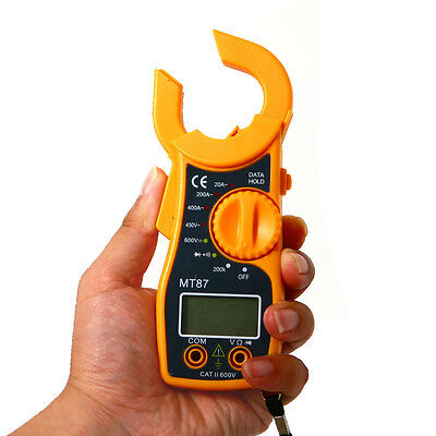 Portable AC DC Voltage LCD Digital Clamp Electronic Tester Meter Multimeter New