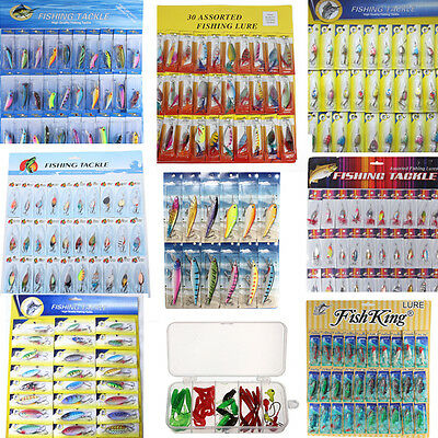Lot Kinds of Fishing Lures Spoons Crankbait Minnow Poper Bass Baits Hooks Tackle
