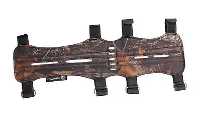 LONGBOWMAKER TRADITIONAL CAMO ARCHERY ARM GUARD Made with Suede Leather