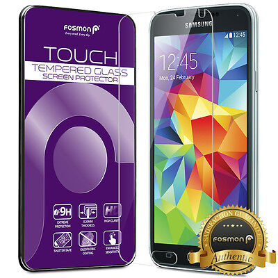 Fosmon HD Clear Real Tempered Glass Screen Protector for Samsung Galaxy S5 SV