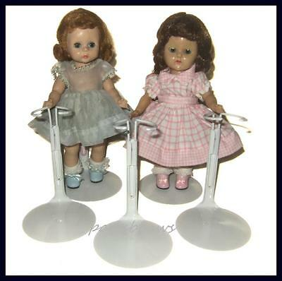 """3 White KAISER Doll Stands for 8"""" Madame Alexander GINNY Riley"""