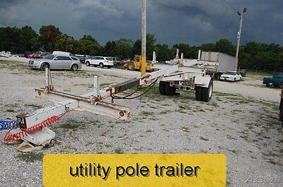 1994 Butler Utility Pole Trailer 18000 lb gvw Used No Reserve Dually telephone