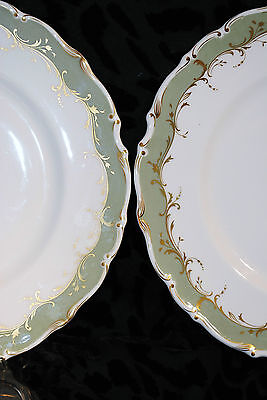 ROYAL DOULTON SET OF 2 DINNER PLATES FINE BONE CHINA FONTAINEBLEAU ENGLAND #4978