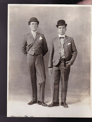 Rochester NY Theater Actors Photo 1920s Well-Dressed Pinstripe Suits