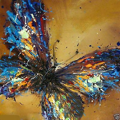 canvas Modern hand-paint Art Oil Painting beautiful butterfly(NO frame)