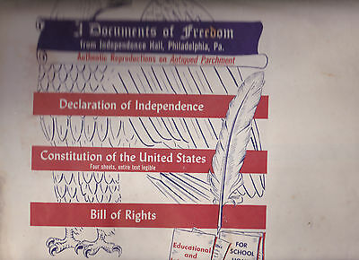Documents of Freedom Antiqued Parchment Constitution Declaration Independence