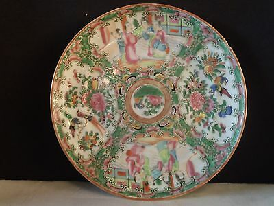 """Rose Medallion """"Hand Painted"""" Plate """"Unmarked"""