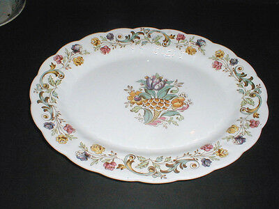 """Booths China England #A8032 BAYONNE 13-3/4"""" Oval Platter"""