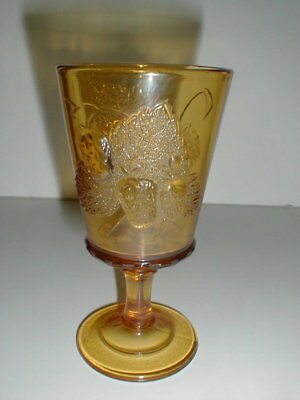 L G Wright  STRAWBERRY & CURRANT/Current Amber Goblet/s