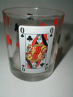 Luminarc Cris d'Arques CARD PARTY Casino Poker Old Fashioned Glass Tumbler