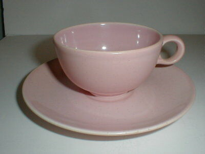 Taylor Smith Taylor China PEBBLEFORD Pink Cup Saucer/s