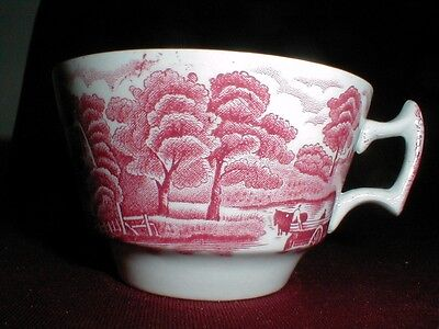"""Wood & Sons ENGLISH SCENERY Pink Teacup/Cup/s """"B"""""""