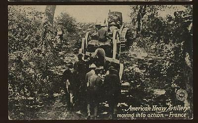 World War I - American Heavy Artillery moving into Action - France