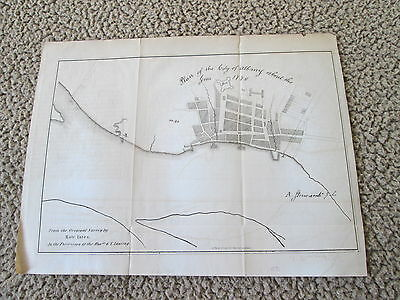 1851 Plan Of The City Of Albany About The Year 1770, Rich & Pease Albany