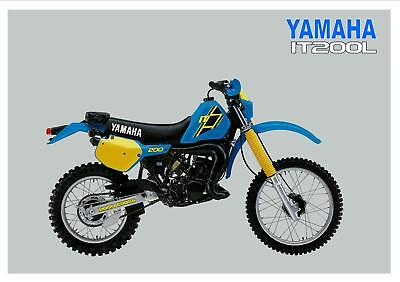 YAMAHA Poster IT200 IT200L VMX Enduro 1984 Suitable to Frame