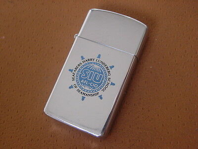 Vintage Zippo Slim Lighter .... Harry Lundeberg School of Seamanship