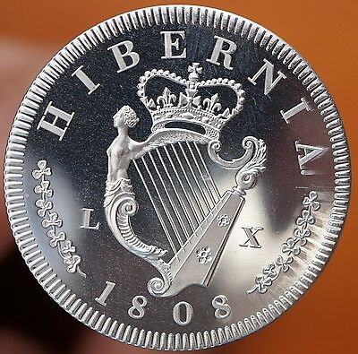 1808 Ireland Retro Pattern Proof Crown Aluminum George III Hibernia