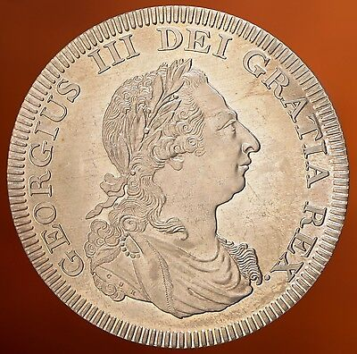 1808 Ireland Retro Pattern Proof Crown Nickel Silver George III Hibernia