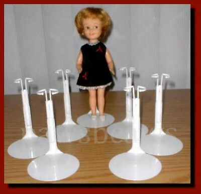 """6 Kaiser 8"""" TINY BETSY McCALL Doll STANDS for Vintage 9"""" SKIPPER Penny Brite"""