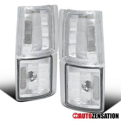 GMC 94-98 C/K C10 Sierra Pickup Chrome Clear Corner Turn Signal Lights