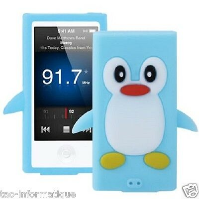 Coque silicone cartoon Pingouin pour ipod nano 7