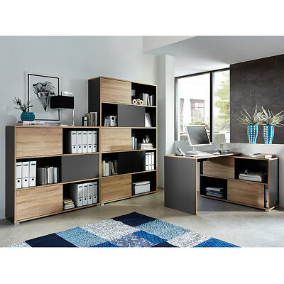 arbeitszimmer b roeinrichtung b rom bel b ro komplett set office line in eiche eur. Black Bedroom Furniture Sets. Home Design Ideas