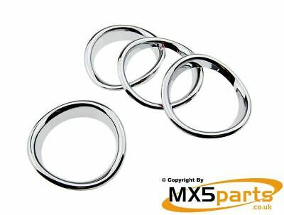 MX5 Chrome Dashboard Air Vent Ring Trim Surround Set Mazda MX-5 Mk3 NC 2005>2015