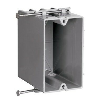 P & S S1-22-R 1-Gang Plastic Deep Switch/Outlet Box w/Quick Click