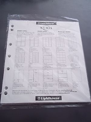 Lighthouse Numis Coin Sheets 5 Piece