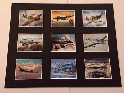 "Airfix World War 11 Retro Posters 14"" By 11"" Picture Mounted Ready To Frame"