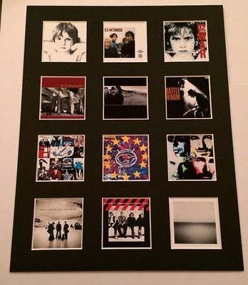 "U2 14"" By 11"" Lp Discography Covers Picture Mounted Ready To Frame"