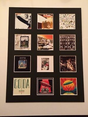"""Led Zeppelin 14"""" By 11"""" Lp Discography Covers Picture Mounted Ready To Frame"""