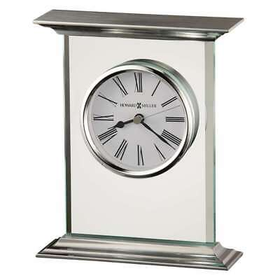 Howard Miller Clifton Table Clock, Glass and metal - 645641