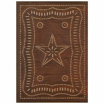 Federal Star rusty tin punched cabinet panel