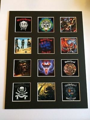 "Motorhead 14"" By 11"" Lp Discography Covers Picture Mounted Ready To Frame"