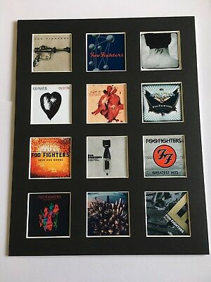"Foo Fighters 14"" By 11"" Lp Discography Covers Picture Mounted Ready To Frame"