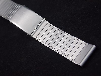 "KB Handi-Fold Mens 16mm 5/8"" Vintage Watch Band Deployment Clasp Stainless NOS"