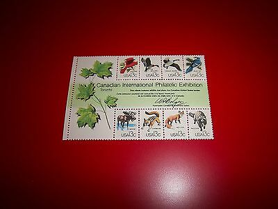 Sc 1757 Capex Wildlife Block / 8 Mnh Stamps Canadian Philatelic Int'l Exhibition