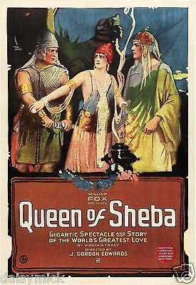 Queen Of Sheba  Silent Movie Poster 1921 12x8 inch Reprint