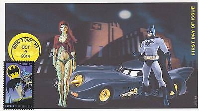 Jvc Cachets -2014 Batman Issue First Day Cover Fdc Comic Super Hero Group #2 Cv4