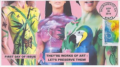Jvc Cachets - 2014 Breast Cancer Awareness First Day Covers Fdc Medical Topic #3