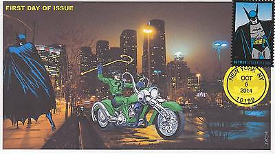 Jvc Cachets -2014 Batman Issue First Day Cover Fdc Comic Super Hero Group #2 Cv3