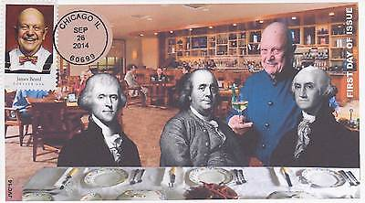 Jvc Cachets -2014 Celebrity Chef Issues First Day Covers Fdc Food Topical Cvr#4