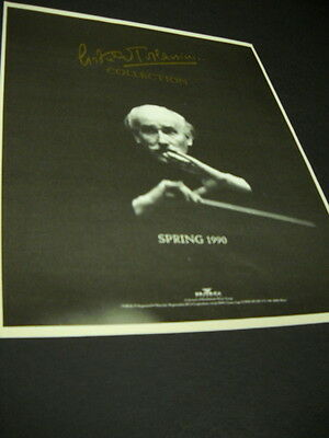 ARTURO TOSCANINI 1990 Spring Collection 1989 PROMO POSTER AD mint condition