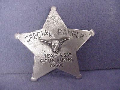 Badge SPECIAL RANGER TEXAS & S W CATTLE RAISERS ASSOC. (BADGES OLD WEST)PINBACK