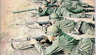 Argentina Army Soldiers Firing Argentine 1982 Falklands 7x5 Inch Reprint Photo