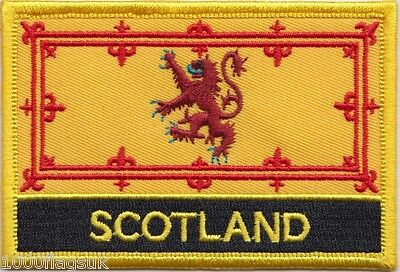 Scotland Lion Rampant Flag Embroidered Patch Badge - Sew or Iron on