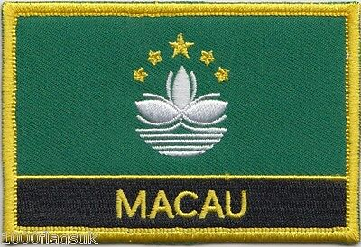 China Macau Region Flag Embroidered Patch Badge - Sew or Iron on