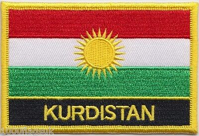Kurdistan Flag Embroidered Patch Badge - Sew or Iron on