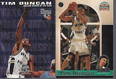 Tim Duncan 30 Card 7 Insert 3 Rookie Lot Nba Spurs Big Lot